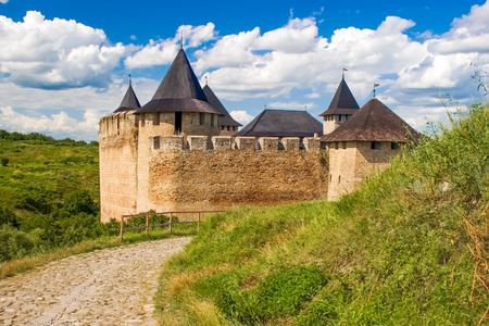 recognized: Medieval Khotyn castle on Dniester riverside (built between 13-17 century) -  the most recognized landmark of the of western Ukraine and one of the most important castle in Europe Editorial