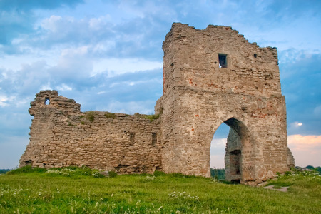 recognized: Ruined gates of Kremenets fortress (13th century), Ukraine - the most recognized landmark of the of western Ukraine and one of the most important castle in Europe Editorial