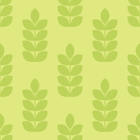 tints: Vector seamless pattern with ears of wheat. Minimalistic design and fresh green tints. Endless texture can be used for wallpaper, fill, web background, wrapping, packaging etc. Illustration