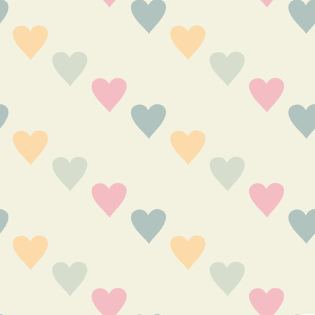 tints: Minimalictic romantic pattern with hearts. Pastel pink tints. Endless texture can be used for wedding design, wallpaper, web background, wrapping, packaging etc. Illustration