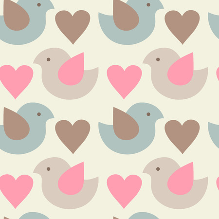 childrens wear: Simple childish pattern with chickens and hearts. Light pastel colors. Endless texture can be used for childrens wear, wallpaper, web background, wrapping, packaging etc.