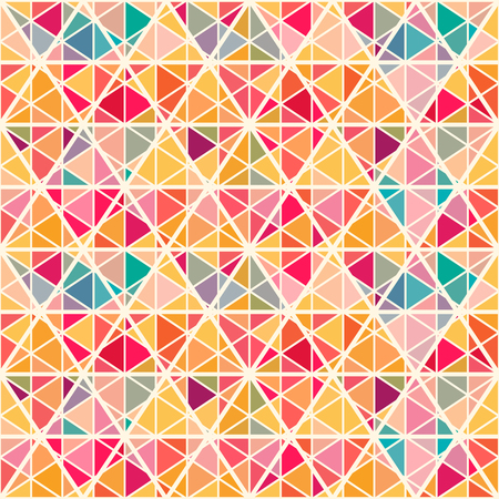 saturated: Geometric pattern with saturated colorful trianglse and crossed lines. All colors of  rainbow. Eps 10. Endless texture can be used for wallpaper, web background, wrapping, packaging etc.