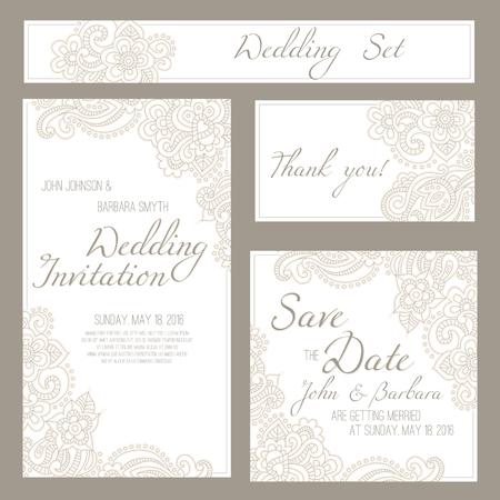 #46063948   Set Hochzeit, Einladung Oder Geburtstag Karten Mit Romantischen  Blumen Hintergrund Und Beispieltext. Subtile Pastelltöne Und Elegante  Lineare ...