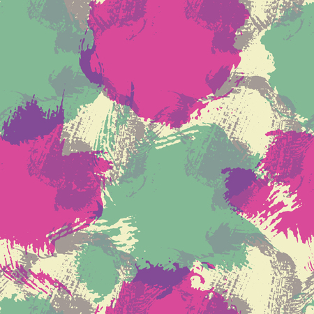 smears: Fashionable seamless pattern with large stains and smears. Saturated purple and turquise spots placed on a off-white background.  Perfect texture for consumer industry design, interior decoration etc