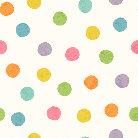 Abstract naadloos patroon met heldere kleurrijke hand getrokken punten op een witte achtergrond. Mooie kinderachtige achtergrond voor verpakking, verpakking, textiel en interieurdecoratie