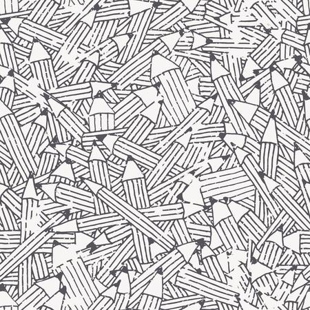 不規則な構造を持つ黒と白の鉛筆飾りとのシームレスなパターン。簡単に編集および色を変更します。