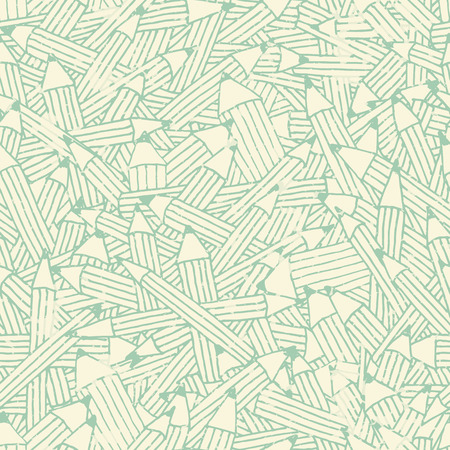 sea green: Seamless pattern with sea green pencil ornament with irregular structure. Easy to edit and change colors Illustration