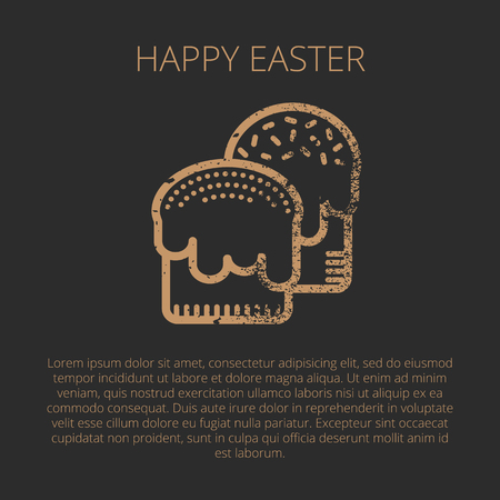 Happy Easter Greeting Card Template In Minimalist Ethnic Style