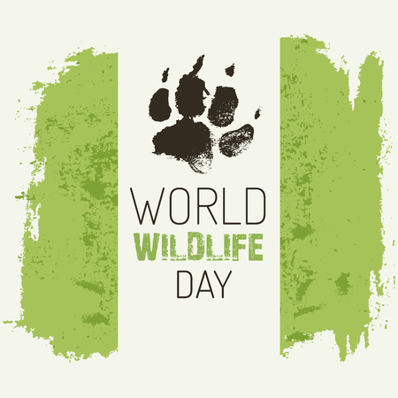 wildlife: World wildlife day. Illustration