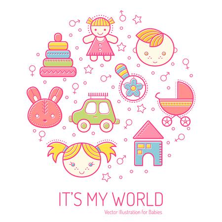 Conjunto De Tarjetas Universales Para Niños Con Lindas Ilustraciones ...