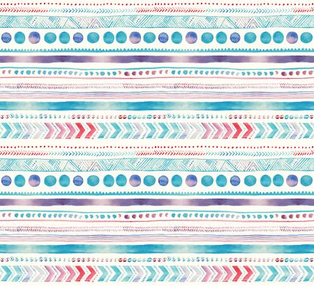 Seamless aquarelle pastel motif ornemental ethnique main Banque d'images - 75155566