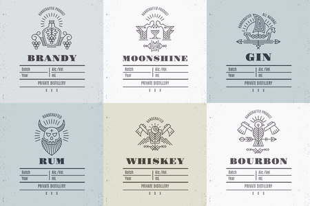 moonshine: DistilleryLabelMINIMALIST_Sh Illustration
