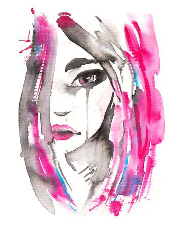 Beautiful woman portrait. Banco de Imagens