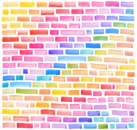 gray and brown brick, wall, watercolor background Stok Fotoğraf - 80824337