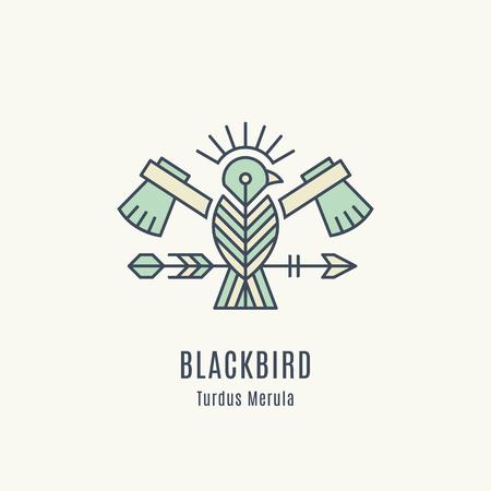 Flying Bird Logo design Ilustração