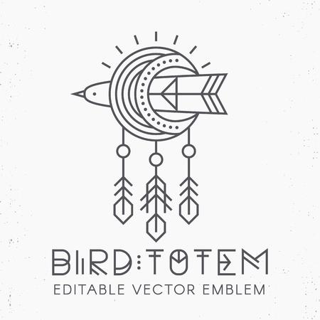 Flying Bird Logo design Illustration