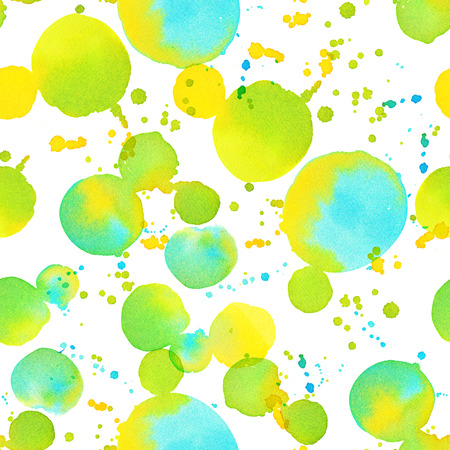 Watercolor dots - colorful abstract seamless pattern Stock Photo