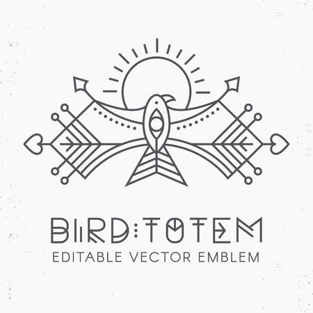 Flying Bird Logo design Stock Vector - 83241951