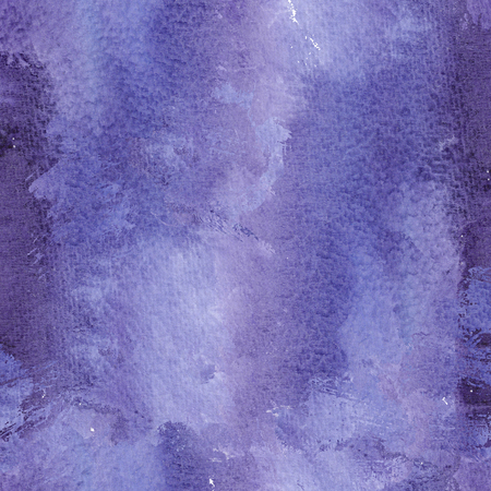 Abstract ultra violet watercolol background with stains and splashes. Trendy color of 2018