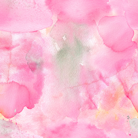 Abstract watercolor seamless pattern with colorful washes of paint. Soft light tints of pink and green. Hand-painted texture for packaging, wedding, birthday, scrapbooking