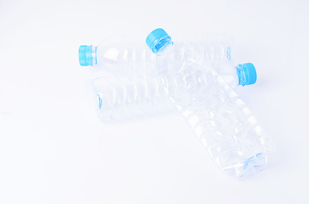 recycle plastic: Recycle plastic bottle on white backgrounds