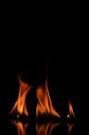 orange inferno: Fire texture abstract backgrounds Stock Photo