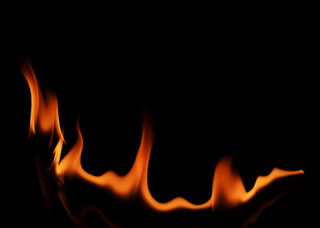 abstracts: Abstracts fire curve line texture on black backgrounds