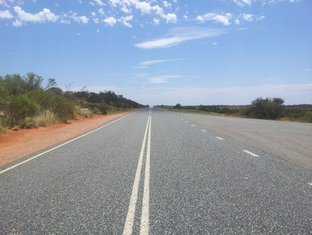 the outback: lonely street in the outback