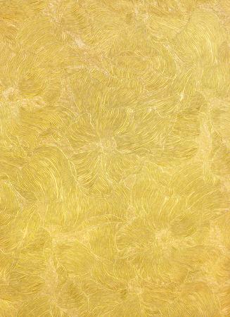 gouden luxe achtergrond met een abstract patroon bloemen
