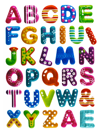 Funny Colorful Letters Of The Alphabet And Some Symbols Stock Photo