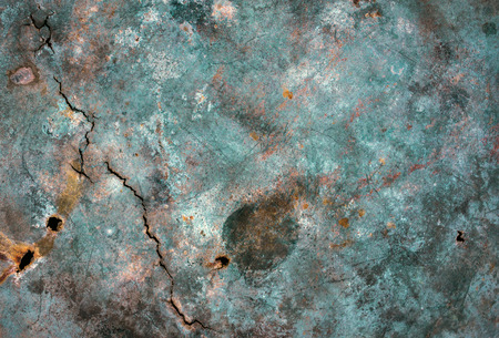 old metal: Metal texture with scratches and rust spots cracks. Old metal Stock Photo