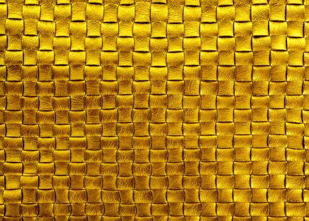 diamond background: gold  bronze braided leather diamond texture background Stock Photo