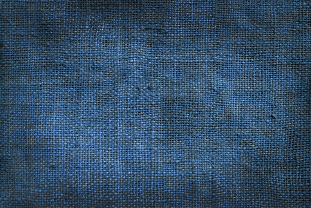 old denim linen burlap texture for background Stock Photo