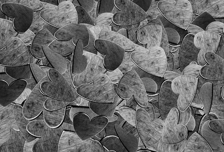 scratches: background hearts of steel with scratches. close-up