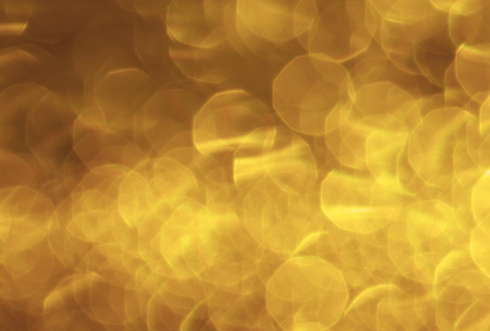 boke: abstract gold bokeh circles for the background, light and blurred boke Stock Photo