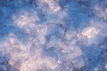 texture of the broken ice surface with bubbles. abstract winter background.