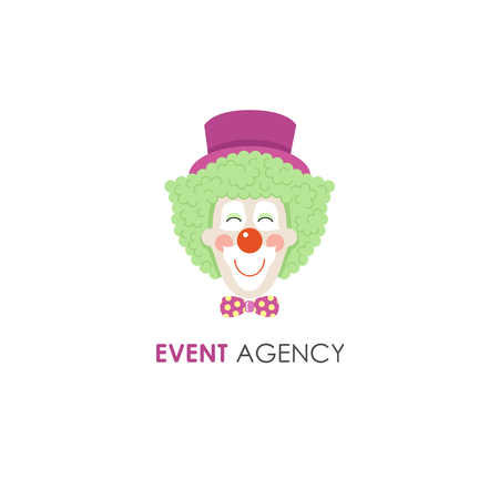 Smiling clown face line icon. Perfect for circus, party service, event agency or gift shop. Banque d'images - 111690386