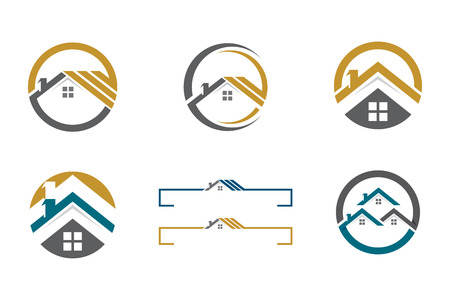 Home Building Property icon Template