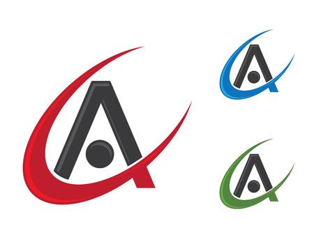 ca: A, CA Letter   Icon Illustration