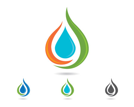 water droplet element icons business logo
