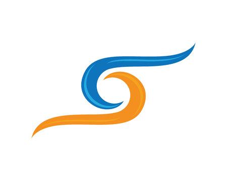 logo element: S letter logo, volume icon design template element