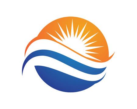 Wave symbol and icon Illustration