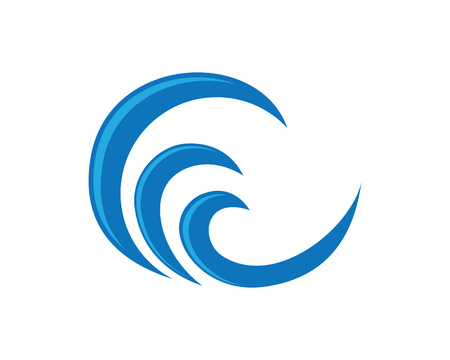 waves ocean: Wave symbol and icon Illustration