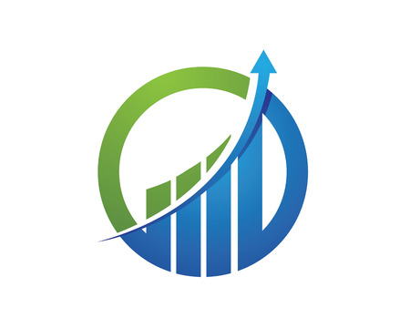 economy growth: Business Finance professional logo template Illustration
