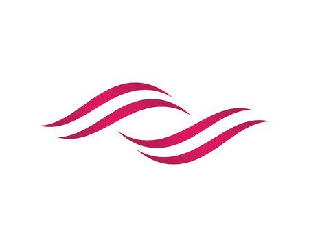 Wave symbol and icon Vettoriali