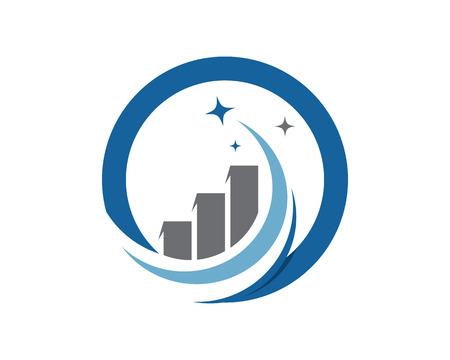 바 비즈니스 금융 전문 로고 템플릿