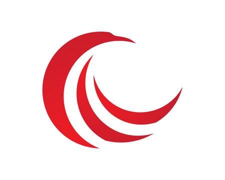falcon wings: Falcon Logo Template