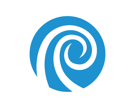 wave tourist: Wave symbol and icon Illustration