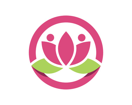 massage symbol: Vector lotus flowers design for spa, yoga class, hotel and resort