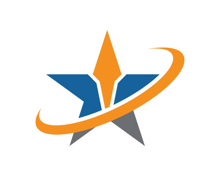 Business Finance professional logo template with star